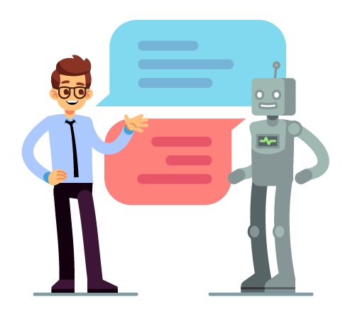 Chat bots help human customers succeed