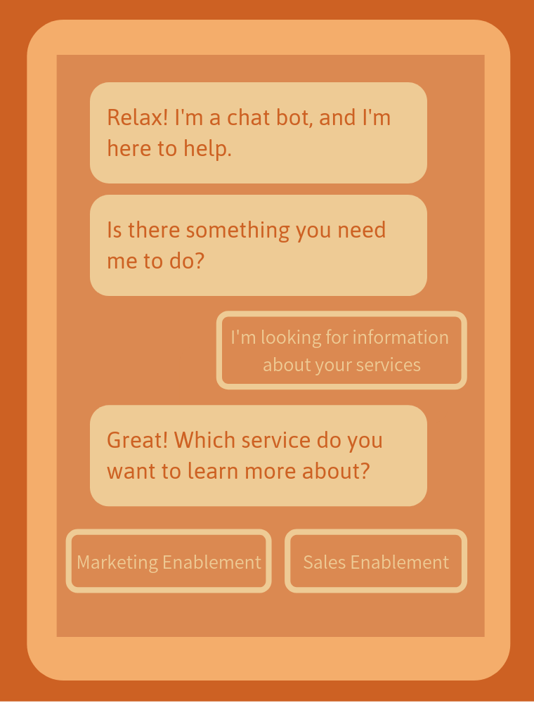 Relax! I'm a chat bot, and I'm here to help.
