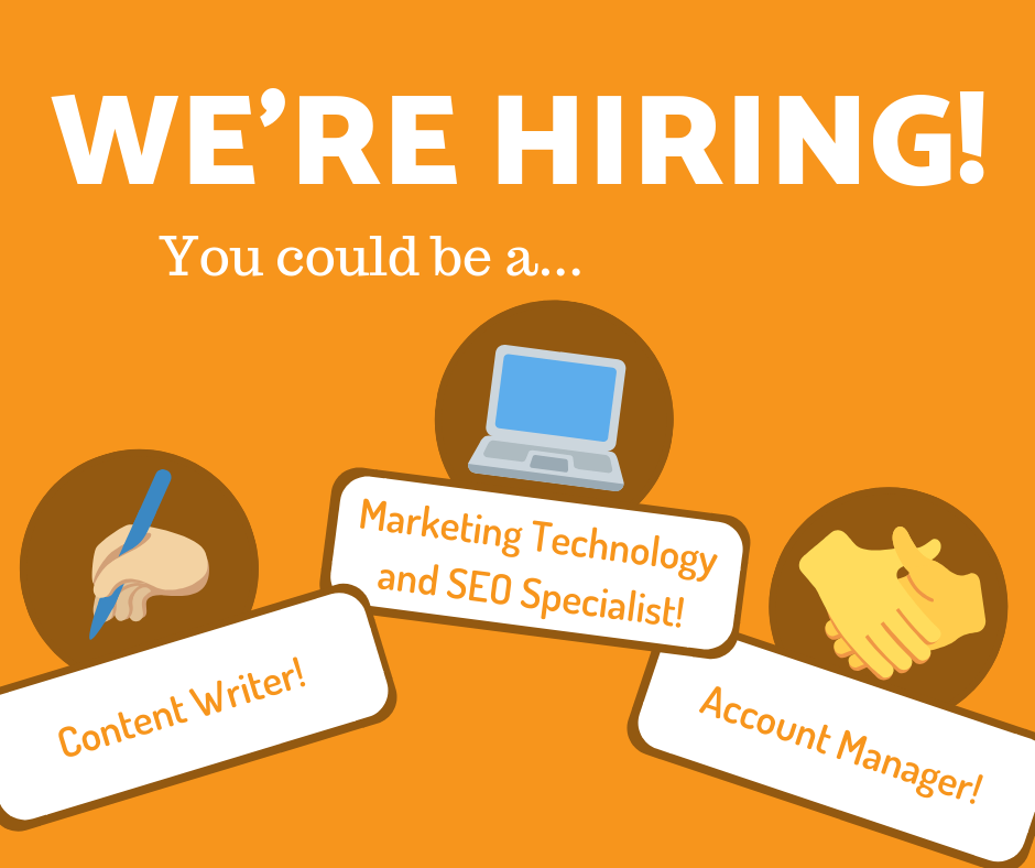 WE'RE HIRING! More